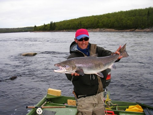 saumon,pêche a la mouche,salmo salar,yokanga,penisule de kola,russie,fly fish yokanga