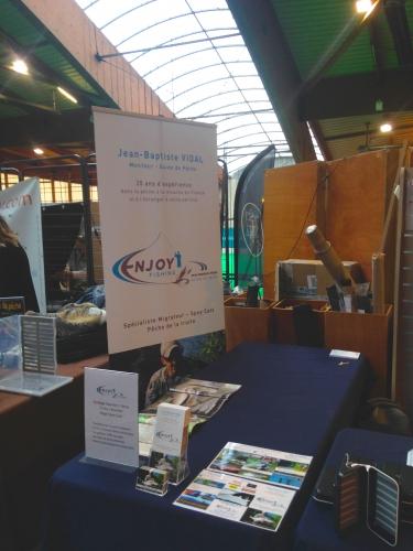 salon de St Etienne, SANAMA, pêche à la mouche, Enjoy Fishing, Jean-Baptiste Vidal guide de pêche à la mouche en Bretagne, Guide de peche Bretagne