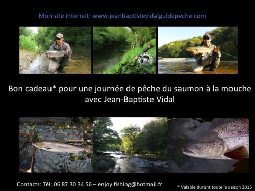 pêche du saumon à la mouche en Bretagne, pêche des migrateurs en Bretagne, bon cadeau pêche, Jean-Baptiste Vidal guide de pêche à la mouche en Bretagne