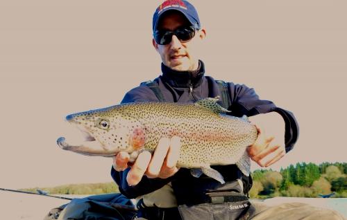 lac saint michel,réservoir st michel,lac de brennilis,pêche de la truite à la mouche sur le réservoir st michel,jean-baptiste vidal guide de pêche à la mouche en bretagne
