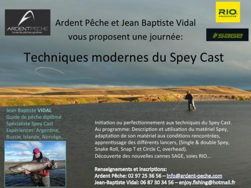 spey cast,cours de lancer spey,canne à deux mains,lancer spey,ardent pêche,enjoy fishing,jean-baptiste vidal