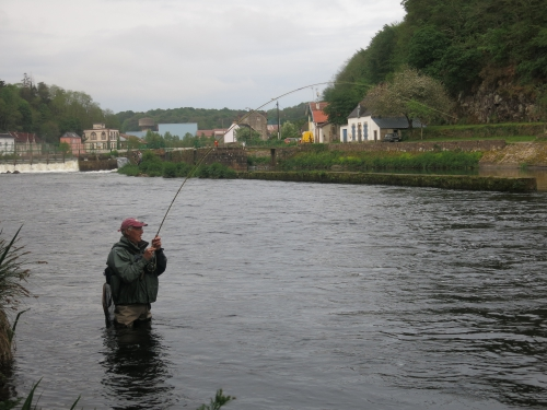 peche du saumon en Bretagne, saumon atlantique en France, meilleures rivières à saumon de Bretagne, guide de pêche au saumon, Jean-Baptiste Vidal guide de pêche à la mouche en Bretagne, Enjoy Fishing, Guide de pêche bretagne