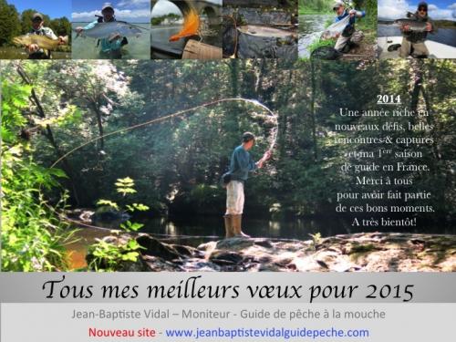 meilleurs voeux 2015, jean-baptiste vidal guide de pêche à la mouche en Bretagne,