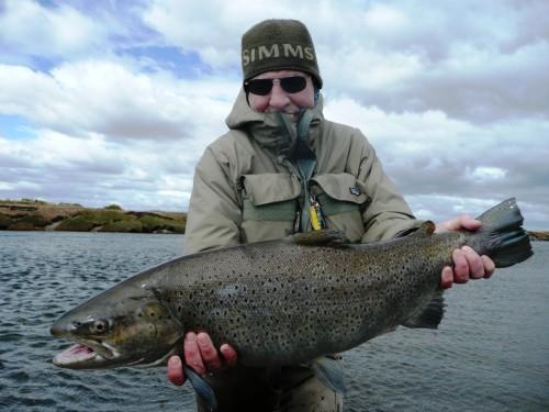 truite de mer, sea trout fishing, pêche a la mouche, fly fishing, Argentina, Argentine, Rio Grande, Rio Irigoyen, Rio Gallegos