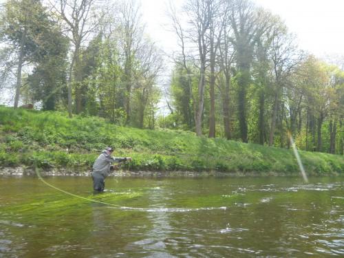 Spey Cast, journée de découverte du Spey Cast, Ardent Pêche, Jean-Baptiste Vidal, pêche avec cannes à deux mains, Enjoy fishing