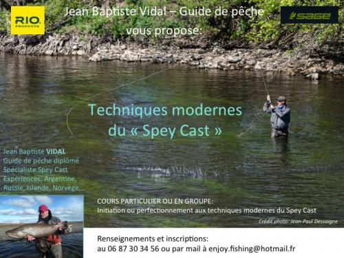 Canne à deux mains, lancer Spey, Spey Cast, apprentissage Spey Cast, cours de lancer Spey Cast, Ardent Pêche, Jean-Baptiste Vidal, Enjoy Fishing